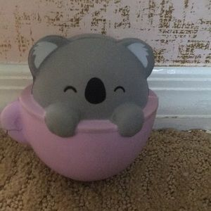 Stress reliever koala in a mug